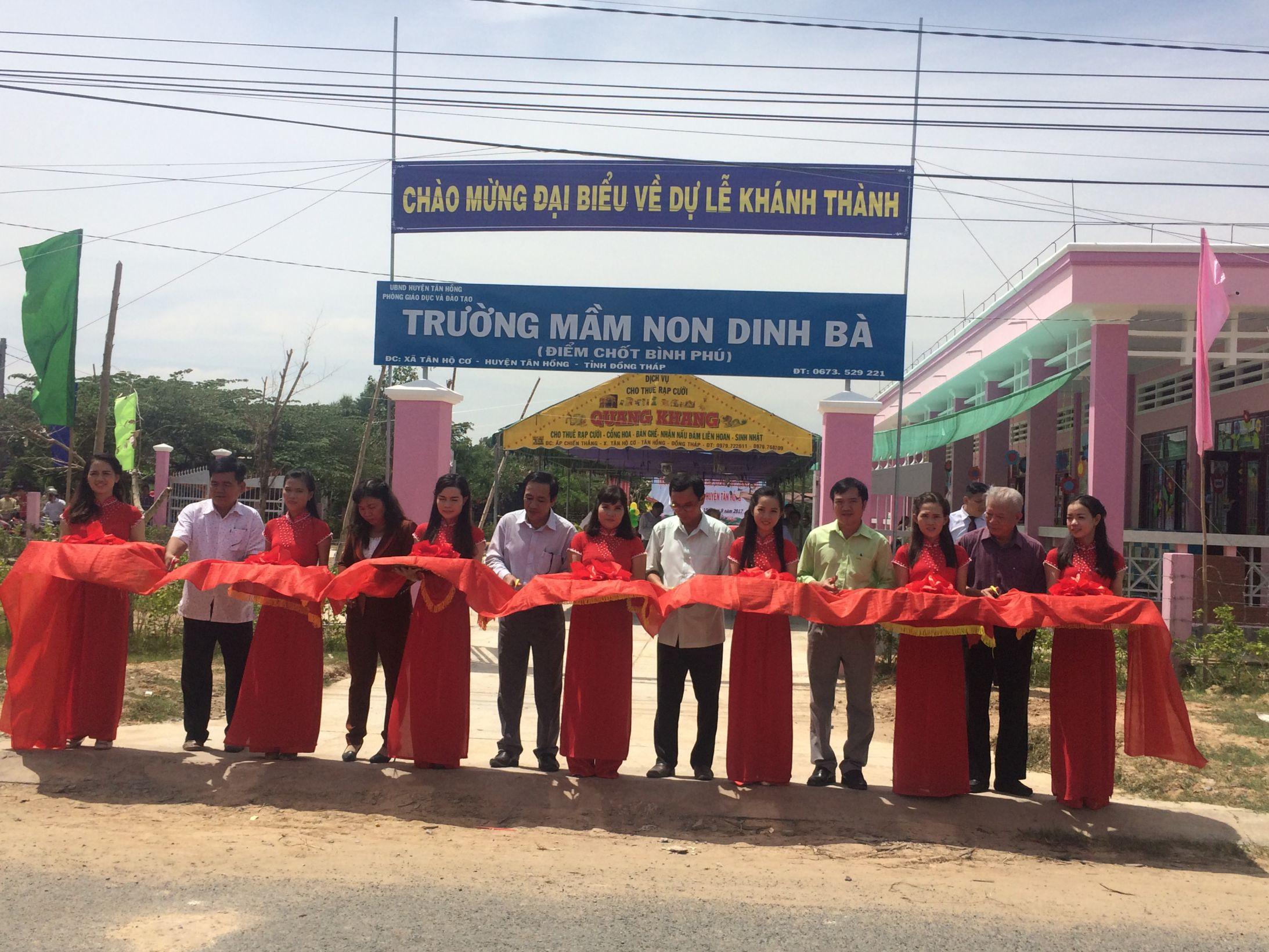 Khánh thành trường Mầm non Dinh Bà - Đồng Tháp